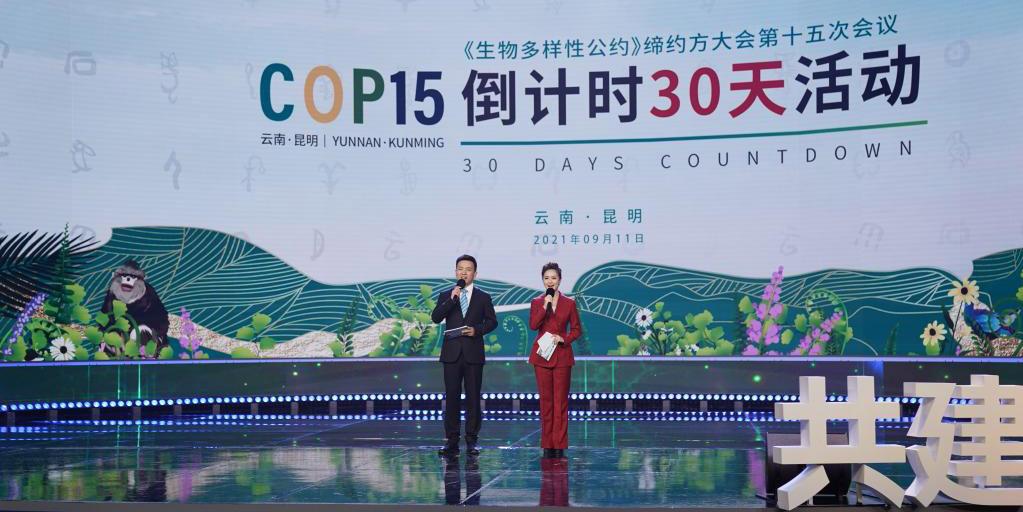 Cerimônia abre contagem regressiva dos 30 dias para COP15 em Kunming