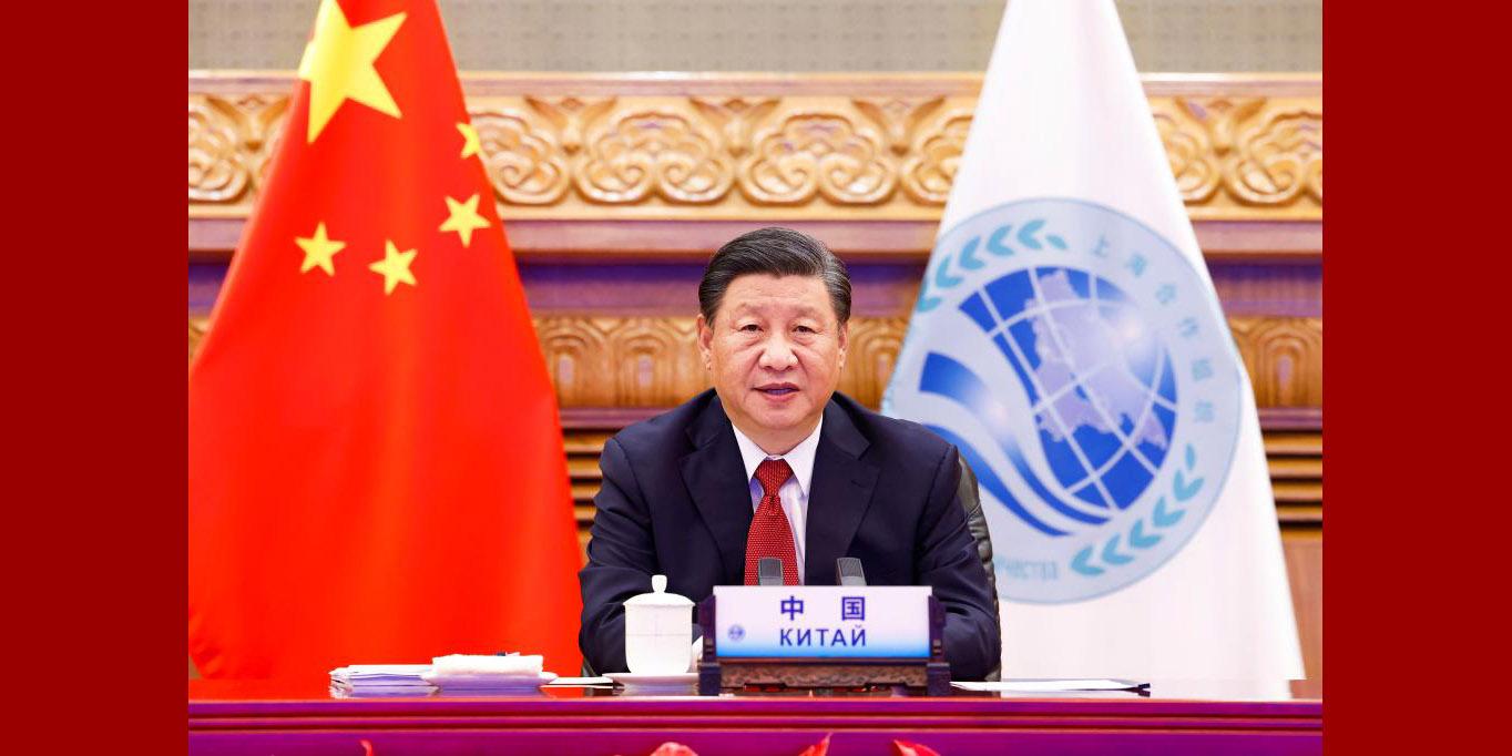 Xi discursa à reunião da OCS por videoconferência