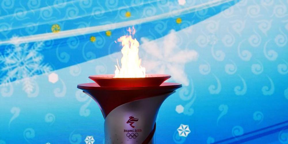 Chama olímpica chega a Beijing para o revezamento da tocha